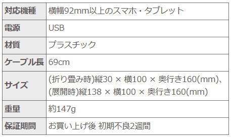 上海問屋 スマホ・タブレット用 スタンド型 USB冷却ファン