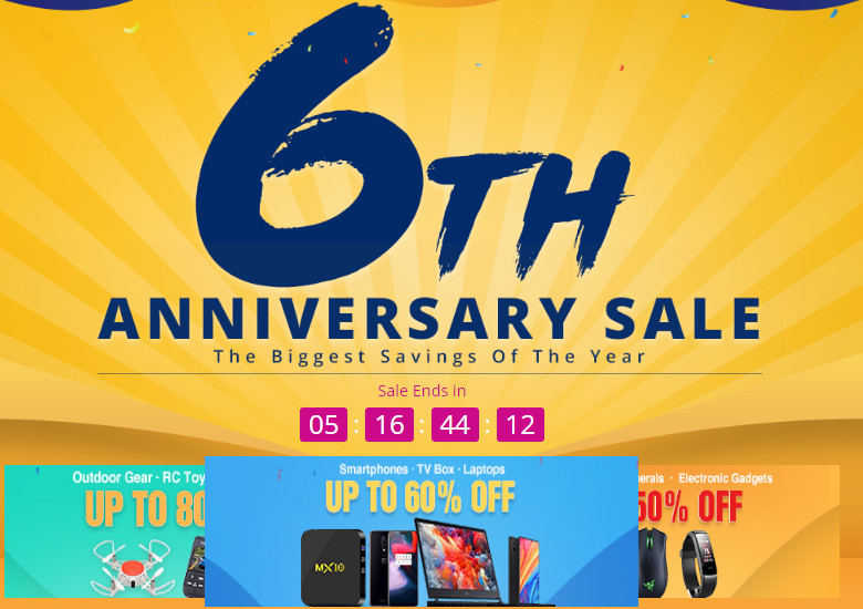 geekbuying 6周年セール