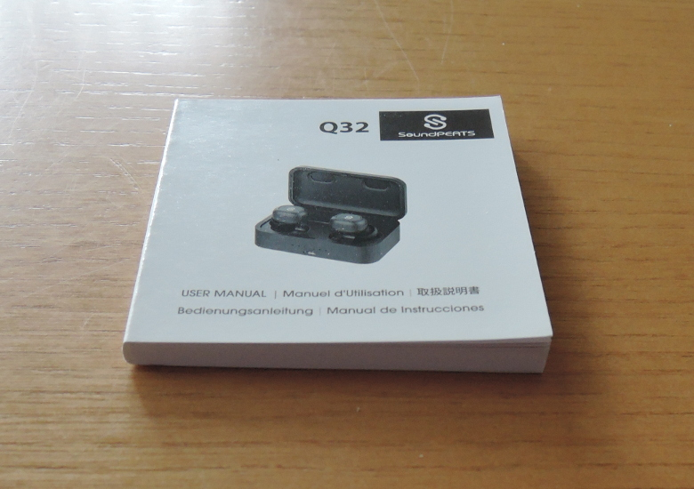 SoundPEATS Bluetooth 5.0 完全ワイヤレスイヤホン Q32 取扱説明書