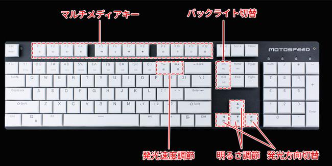 上海問屋  DN-915446 薄型メカニカルゲーミングキーボード