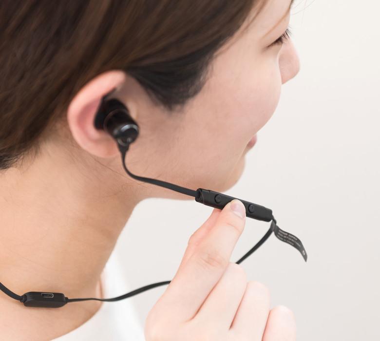 サンワサプライ Bluetoothイヤホン 400-BTSH010BK