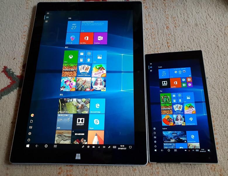 Microsoft Surface 3との比較
