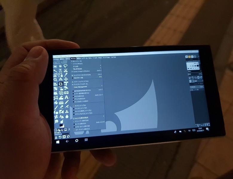 GIMPはAndroid版も一応あることにはあるが…
