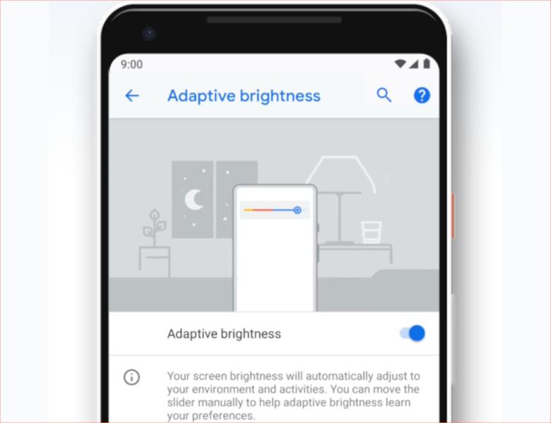 Android Pでは状況に応じて自動的に明るさを最適化してくれる