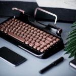 Rymek タイプライター風 Bluetooth メカニカルキーボード - 選べるキースイッチ、タブレットやスマホとの相性もバッチリのキーボード