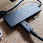 AUKEY USB-C ハブ CB-C65 レビュー - GPD PocketなどのUMPCやMacbookのポート増設におすすめ(実機レビュー:かのあゆ)