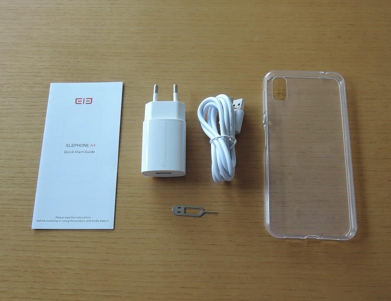 Elephone A4 付属品