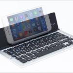 上海問屋  折りたたみBluetoothキーボード DN-915443 - ペンケースサイズでキーピッチ17 mmを確保したモバイルキーボード