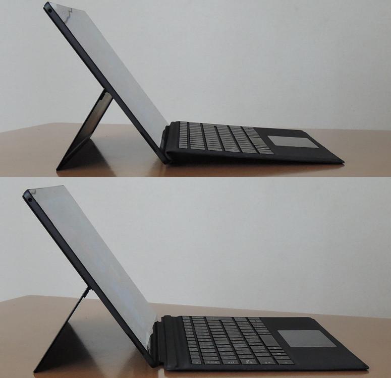 Microsoft Surface Pro 6 タイプカバー角度調整