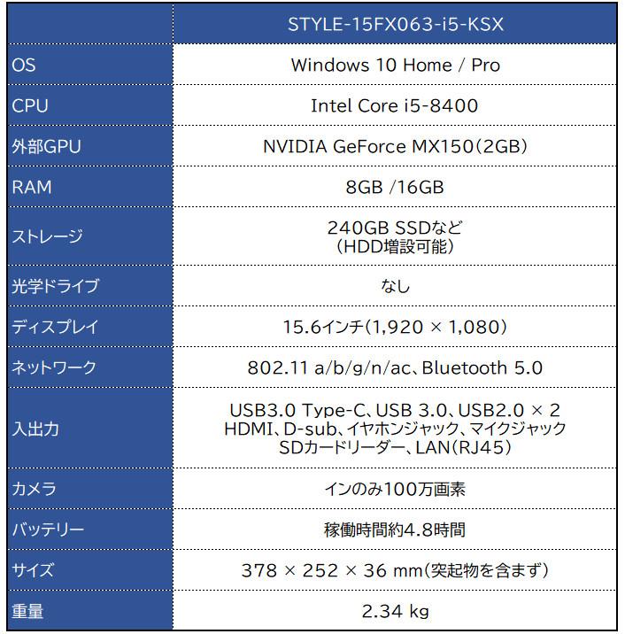 iiyama STYLE-15FX063-i5-KSX