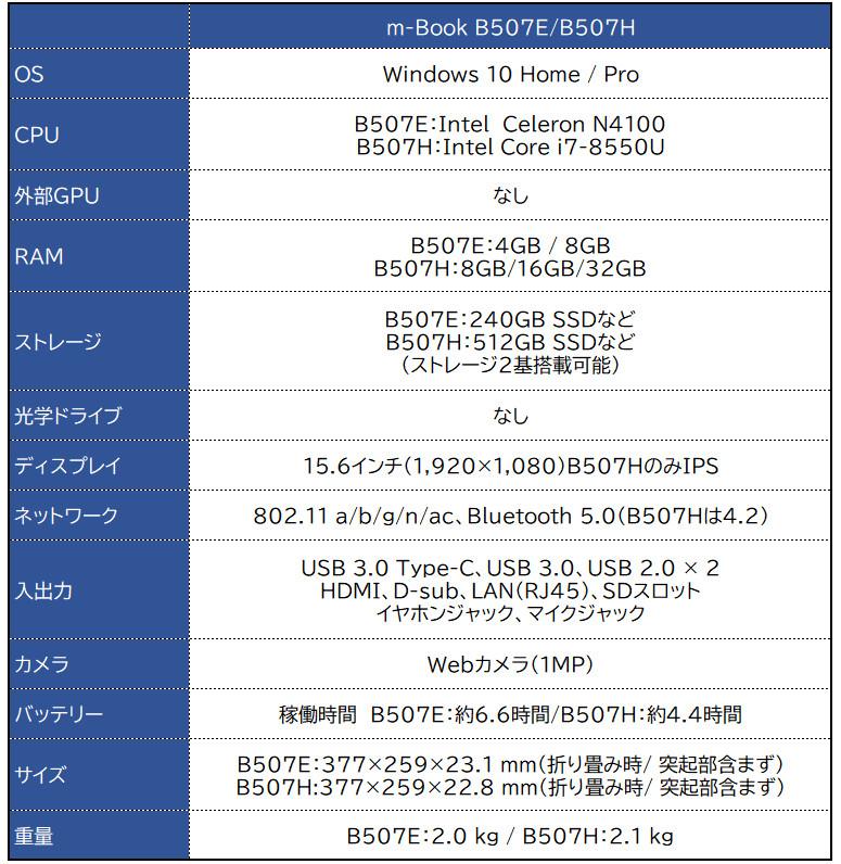 m-Book B507H