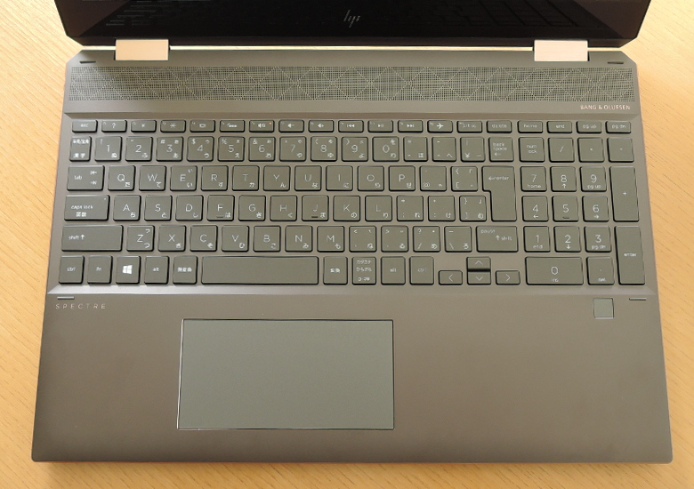 HP Spectre x360 15 キーボード
