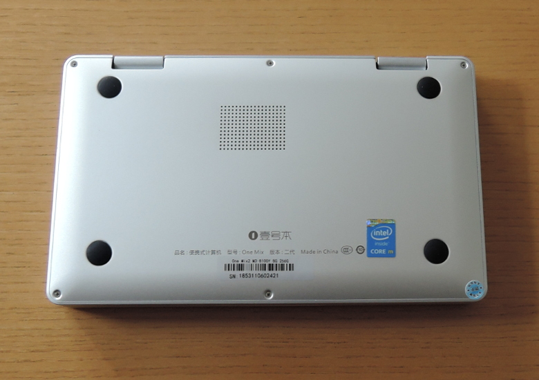 One Netbook One Mix 2S 底面
