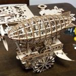 ROBOTIME 3D木製パズル「飛行船」- ロマンはここにある!スチームパンクなカラクリ木製パズル(natsuki)