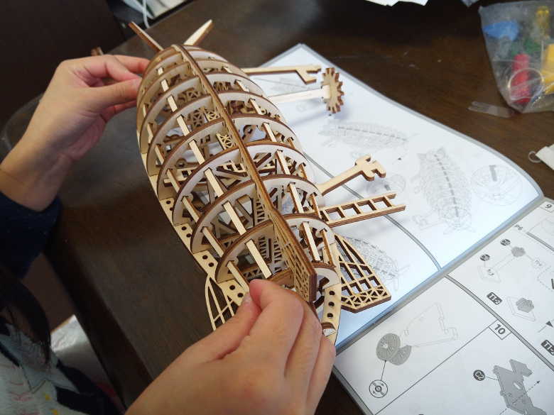 ROBOTIME 3D木製パズル「飛行船」