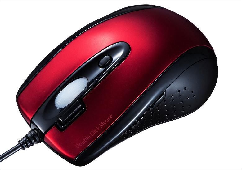 サンワサプライ ダブルクリックボタン付きマウス MA-IR125