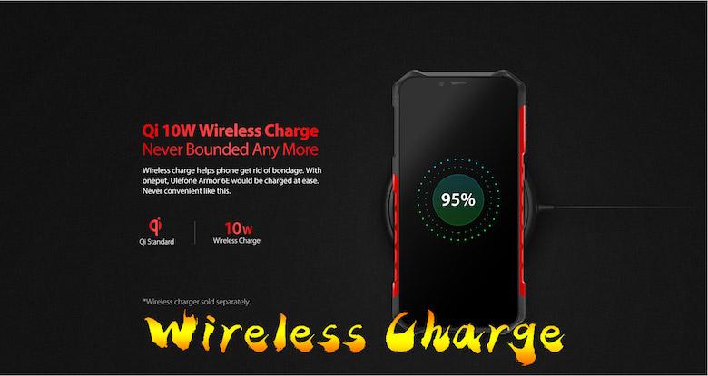 qiによるワイヤレス充電もサポート