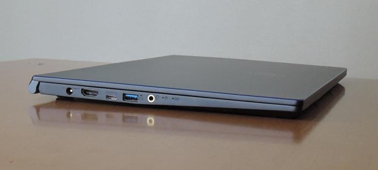 MSI PS63 Modern(PS63-8SC-035JP)左側面