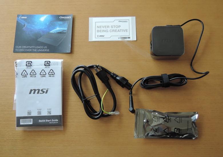 MSI PS63 Modern(PS63-8SC-035JP)同梱物