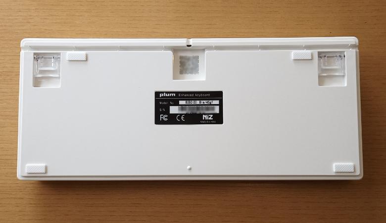 AKEEYO NIZ 静電容量 無接点 Bluetooth/有線 両対応 キーボード 令和限定版 底面