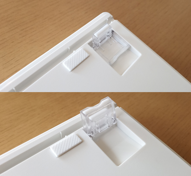 AKEEYO NIZ 静電容量 無接点 Bluetooth/有線 両対応 キーボード 令和限定版 足