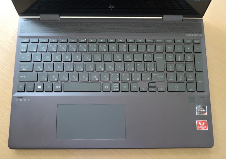 HP ENVY x360 15 キーボード