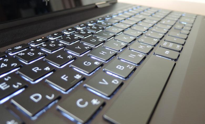 HP ENVY x360 15 キーボード拡大