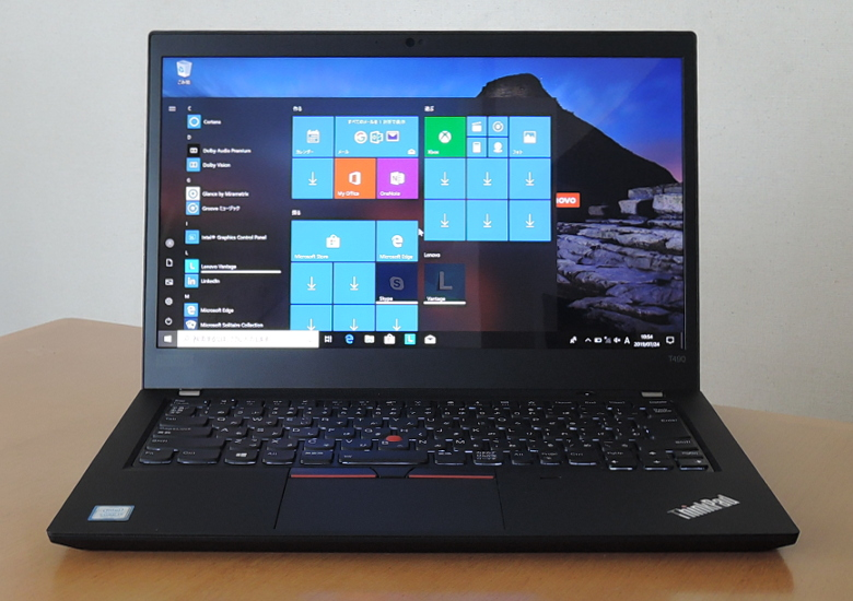 Lenovo ThinkPad T490 正面