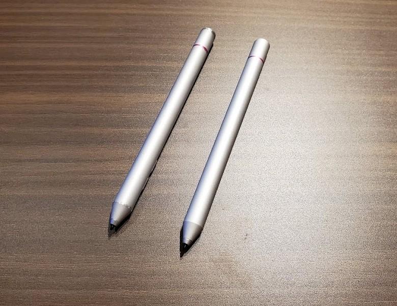 実際の製品版ではスタイラスペンは別売