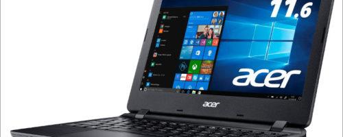 acer Aspire 1 A111-31-A14P/F - 税抜で3万円を切る11.6インチのモバイルノート、Windows 10(Sモード) 搭載でセキュリティーも強化