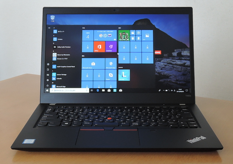 Lenovo ThinkPad T490s 正面