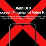 UMIDIGI X - 6.35インチ有機EL&ディスプレイ埋め込み型指紋センサー搭載スマホ、8月26日発売。プレオーダー開始!