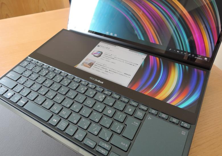 ASUS ZenBook Pro Duo UX581GV サブディスプレイ2