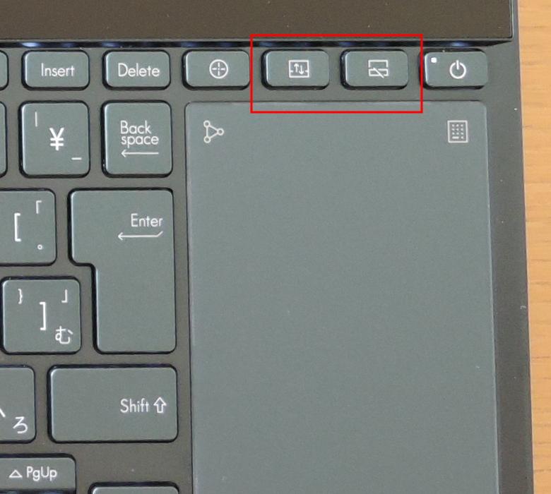 ASUS ZenBook Pro Duo UX581GV ハードウェアキー