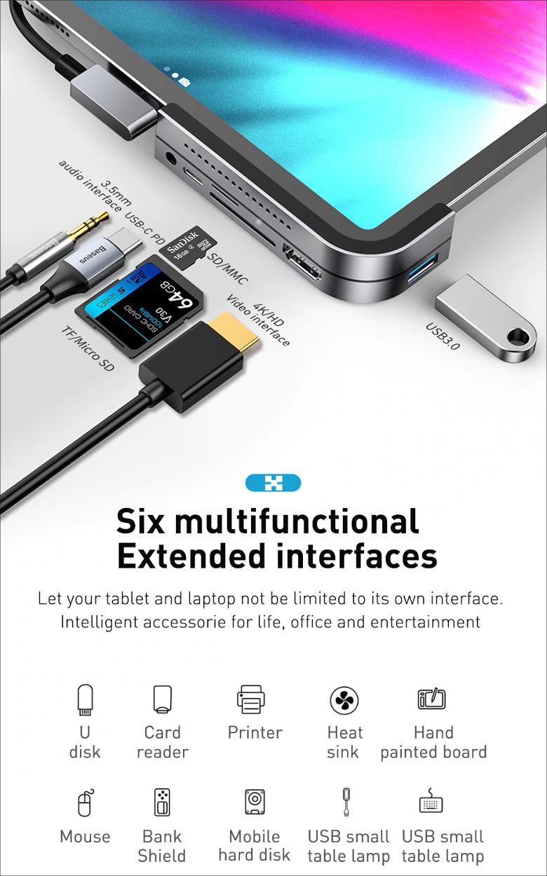 Baseus Type-C USB-C Hub Adapter Converter