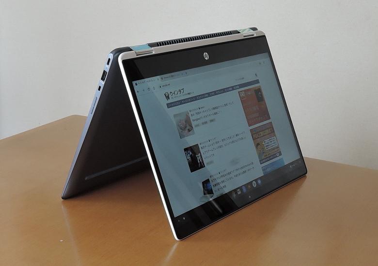 HP Chromebook x360 14 テントモード