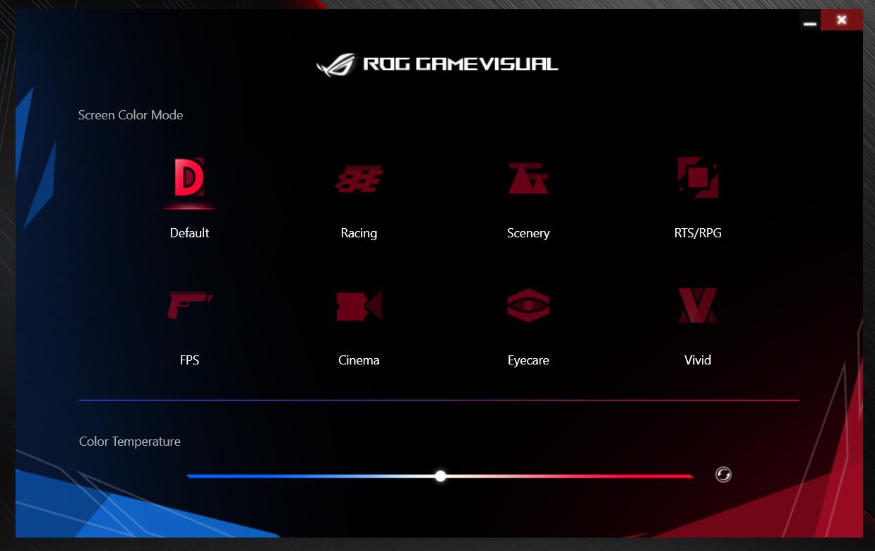ASUS ROG Zephyrus G GA502DU ROG GAME VISUAL