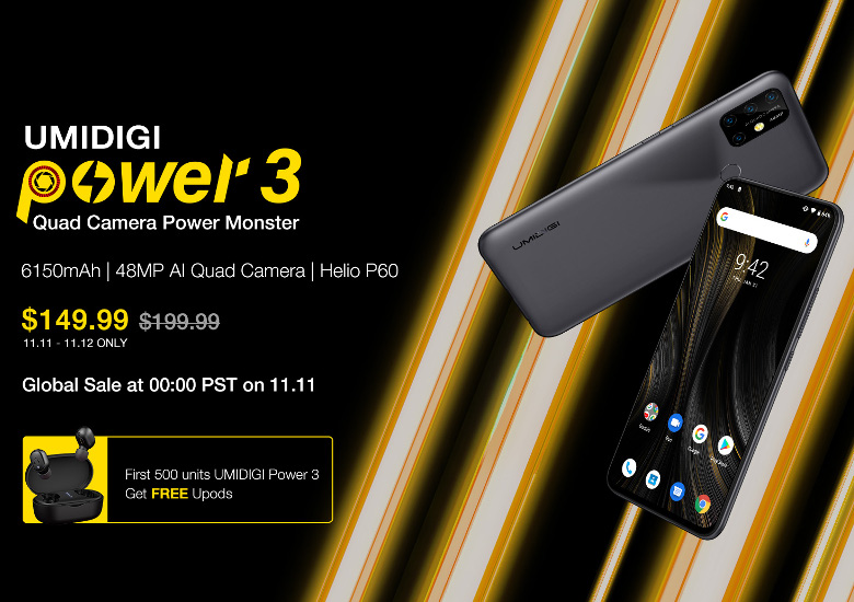 UMIDIGI Power 3が特価に!
