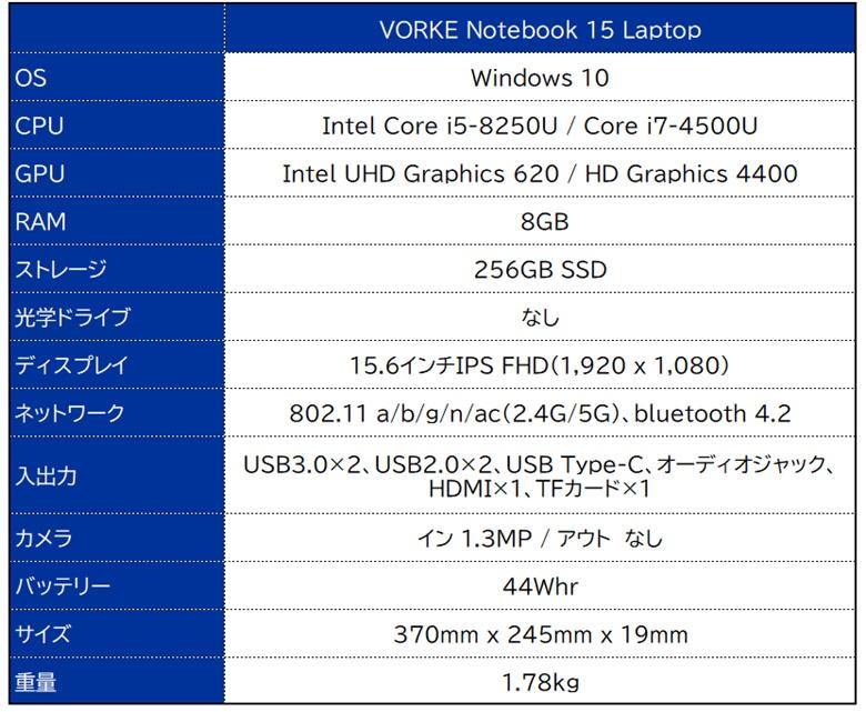 VORKE Notebook15-SpecSheet