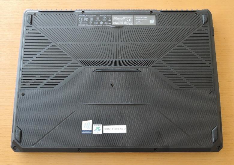 ASUS TUF Gaming FX505DT 底面