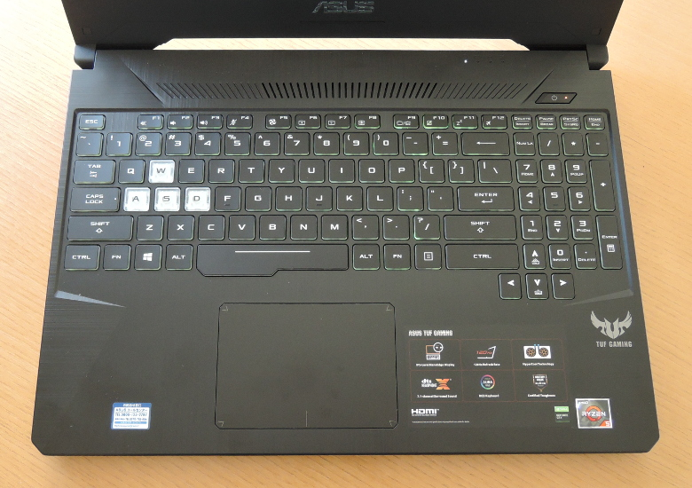 ASUS TUF Gaming FX505DT キーボード