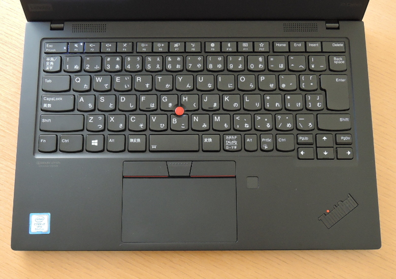 Lenovo ThinkPad X1 Carbon 2019 キーボード