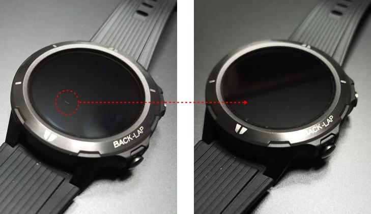 Blackview スマートウォッチ BV-SW02 PDA工房のフィルムを貼る