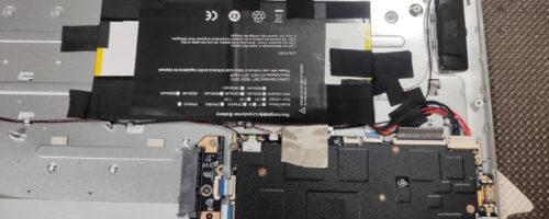 中華PCのバッテリーが壊れたので、互換バッテリーをAliexpressで購入して交換してみた