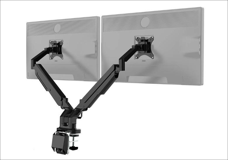 FLEXISPOT ガススプリング式 デュアルモニターアーム