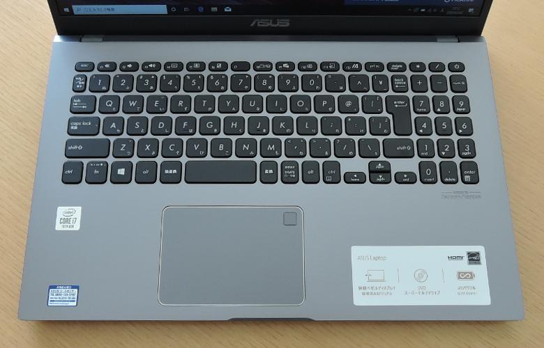 ASUS Laptop 15(X545FA)キーボード