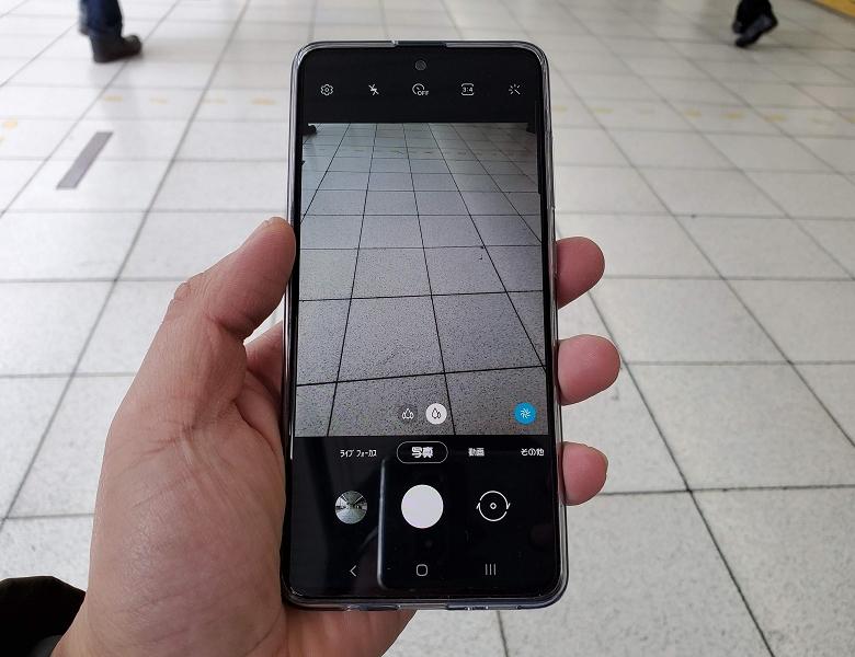標準カメラアプリ UI