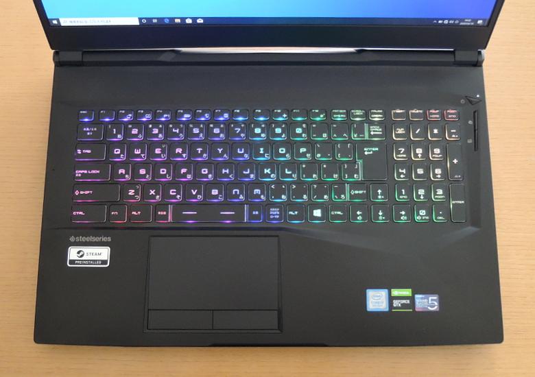 GALLERIA GCR1660TNF-E キーボード