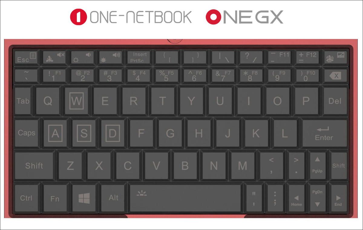 ONE-NETBOOK ONE GX キーボード