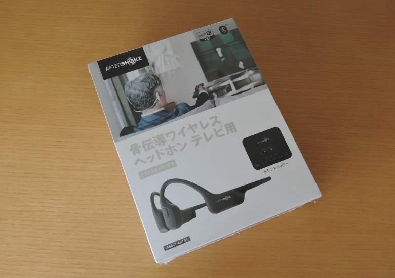 AfterShokz 骨伝導ワイヤレス ヘッドホン(テレビ用  トランスミッター付き)